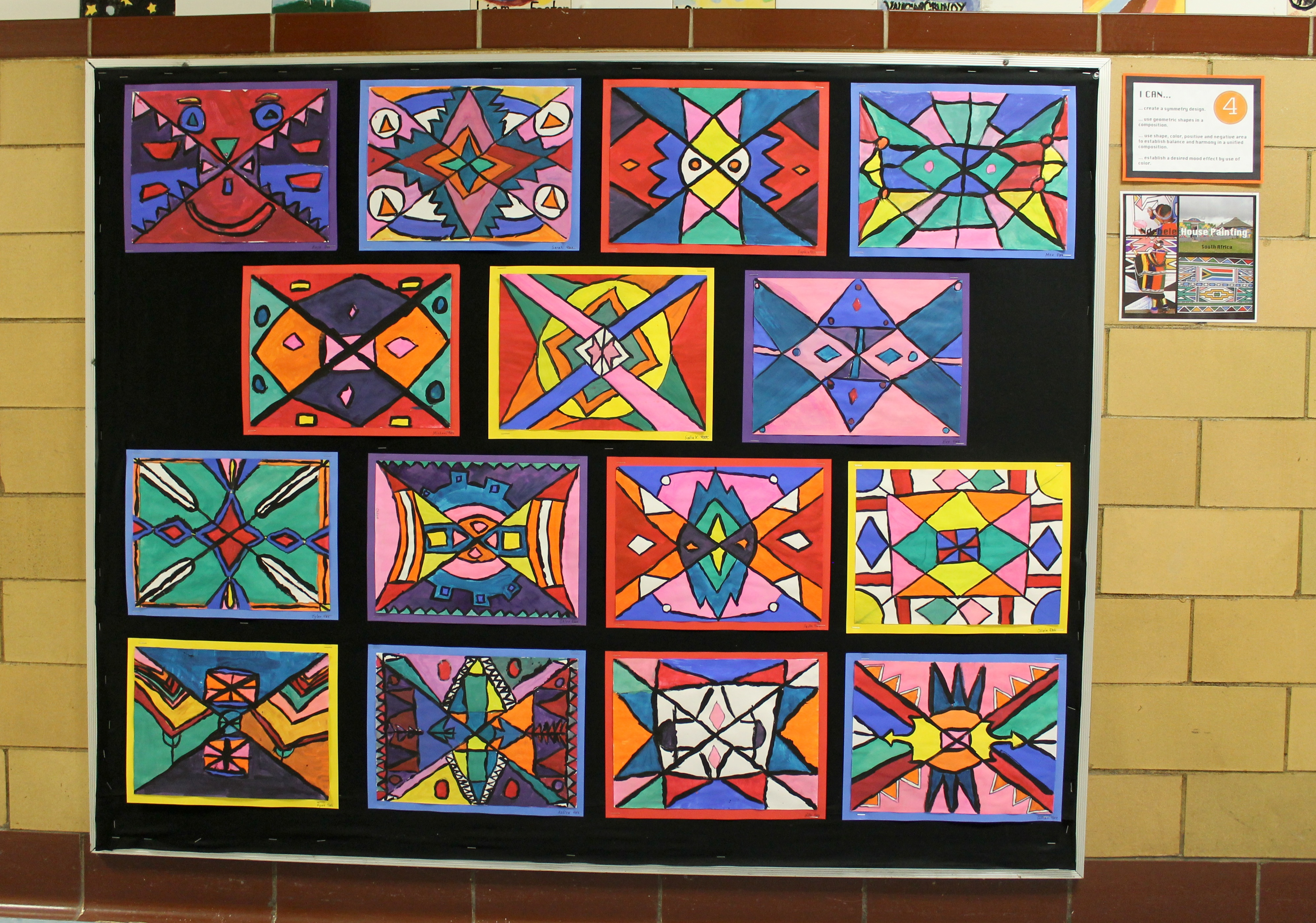 Art Design Ideas : Ndebele house paintings th grade the heart of life
