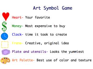 Art Symbol Game